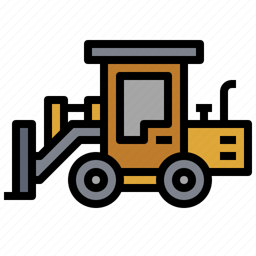 car, construction, dozer, industrial, machinery, transportation, wheel icon