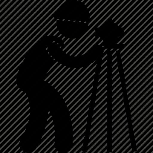 construction, developer, development, engineer, survey, surveyor, worker icon