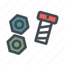bolt, construction, edit, real, repair icon