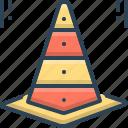 cone, progress, safety, taper, traffic, traffic cone, work in progress