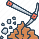 dig, digging, mud, shovel, tool icon