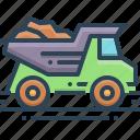 dump, dump truck, garbage, garbage truck, quarry, truck