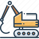 backhoe, bulldozer, construction, digger, excavator icon