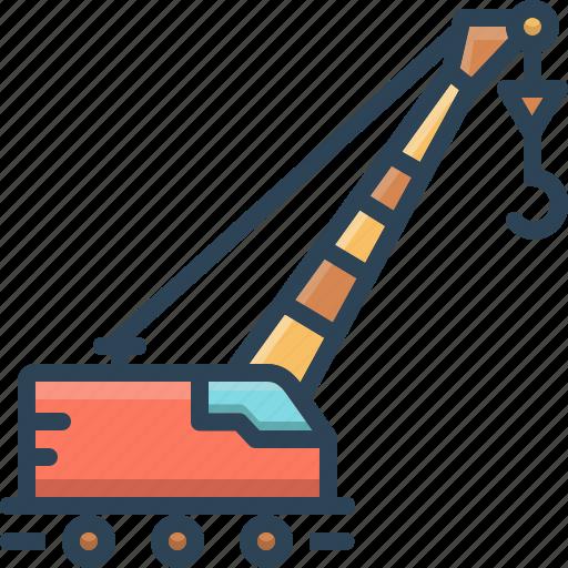 Crane, lifting, lifting crane, pneumatic, vehicle icon - Download on Iconfinder