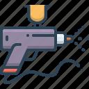 airbrush, gun, handgun, nozzle, spray, spray gun