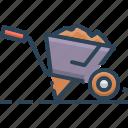 cart, transportation, trolley, wheelbarrow