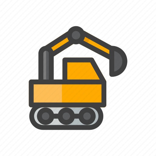 build, construction, tool, tractor, work icon