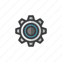build, construction, gear, tool, work icon