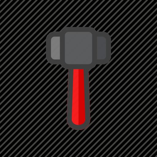 build, construction, gavel, hammer, tool, work icon