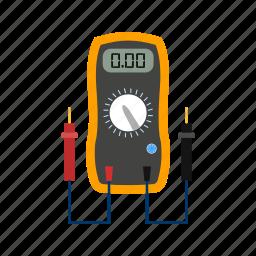 meter, voltage, voltmeter icon
