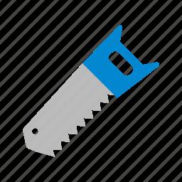 blade, crosscut, hand saw, saw icon