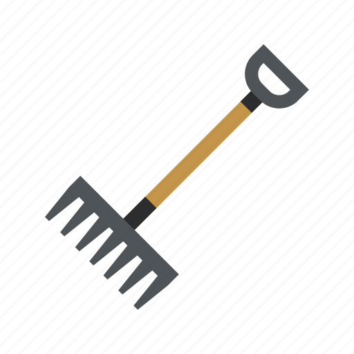agriculture, farming, rake icon