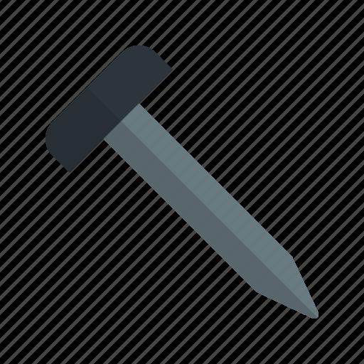 hard, nail, screw, tool, work icon