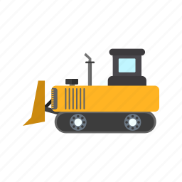 bulldozer, construction, crane, machine, machinery icon