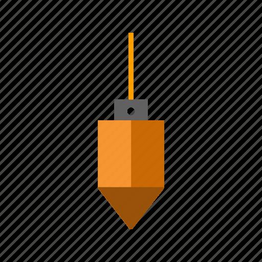 construction, plumb bob, plumbbob, tool icon