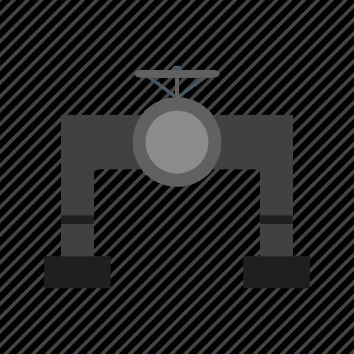 pipe, plumbing, valve, water icon