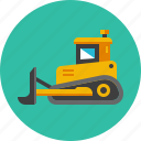 bulldozer, construction, excavator, heavy, machinery, mining, tractor icon