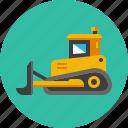 bulldozer, construction, excavator, heavy, machinery, mining, tractor icon