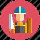 carpenter, construction, craftsman, handyman, lumberjack, woodwork, worker icon