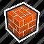 bricks, build, construction, cube, house, tile icon
