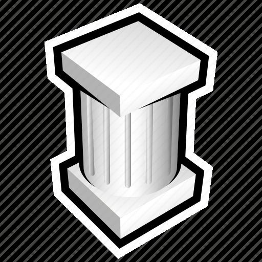 cement, column, construction, pillar, tile, wall icon