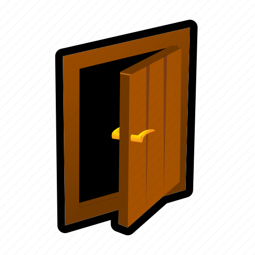 construction, door, house, knob, wall, wood icon