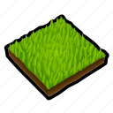 construction, grass, ground, lawn, tile