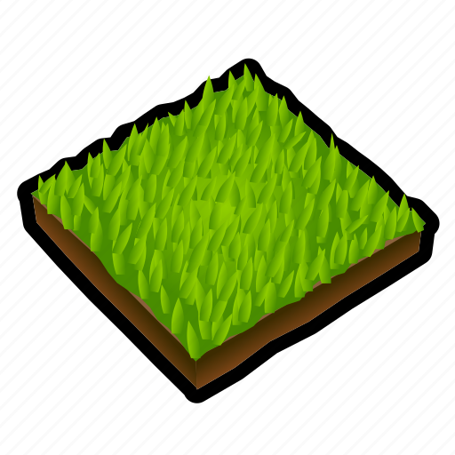construction, grass, ground, lawn, tile icon