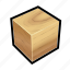 construction, cube, ground, oak, wall, wood icon