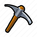 cave, dig, mine, pickaxe, tool, work icon