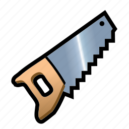 build, construction, cut, saw, slice, tool icon