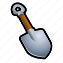 cave, dig, farm, plant, shovel, tool icon