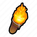 fire, lantern, light, tool, torch icon
