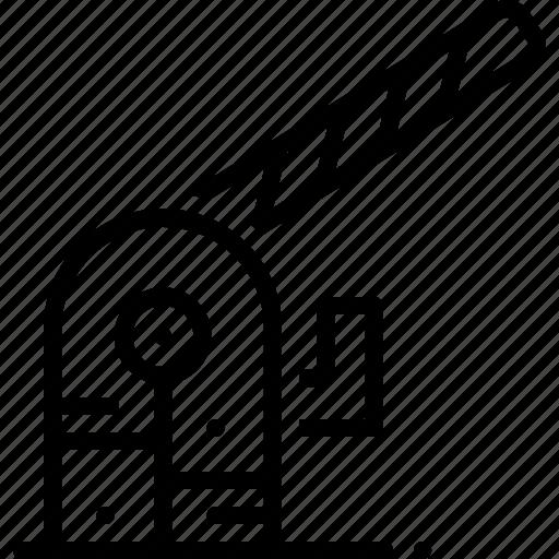 barrier, boundary, disallowance, inhibition, parking, parking barrier icon