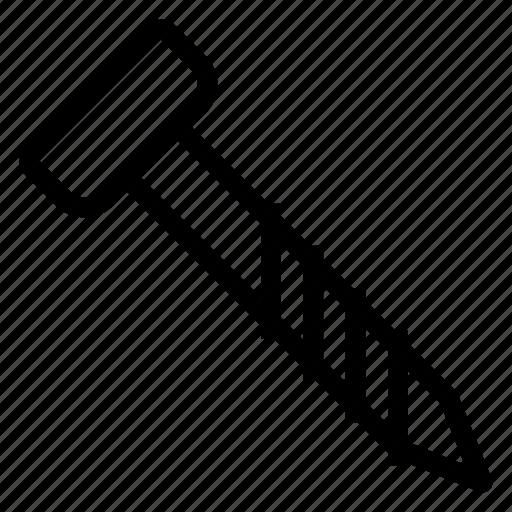 bolt, nut, rackwheel, screw icon