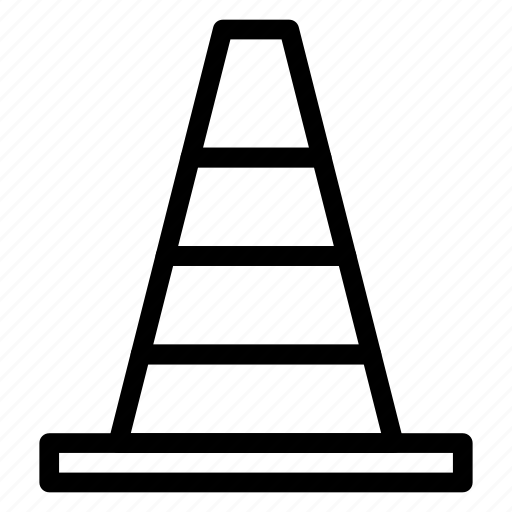 block, cone, emergency, pylon icon