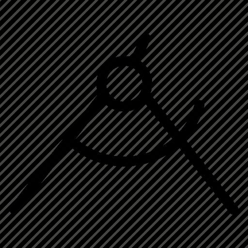 design, draw, measurement, protractor icon