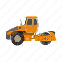 construction, equipment, machinery, rink, tractor, transport icon