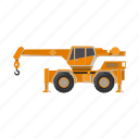 construction, equipment, loader, machinery, transport icon