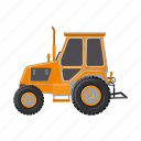 construction, equipment, machinery, tractor, transport icon