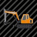 construction, equipment, excavator, ladle, machinery, transport