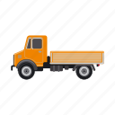 construction, dump truck, equipment, machinery, transport, truck icon