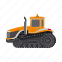 bulldozer, construction, equipment, machinery, tractor, transport icon