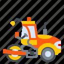asphalt, construction, machine, roller, vehicle icon