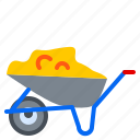cart, concrete, construction, tool, trolley