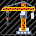 construction, crane, derrick, lift, machine icon