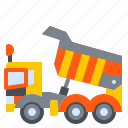 construction, dump, dumper, machine, truck, vehicle