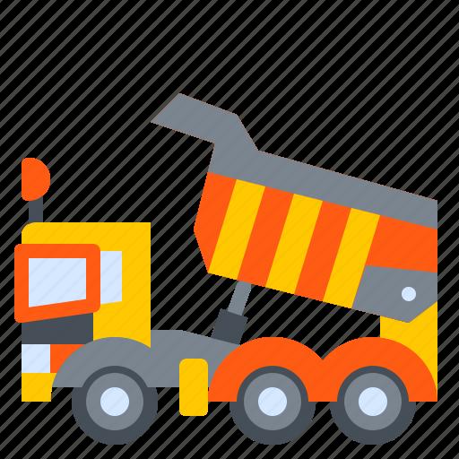 construction, dump, dumper, machine, truck, vehicle icon
