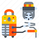 construction, electro, machine, mask, welding icon