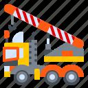 construction, crane, machine, mobile, truck, vehicle